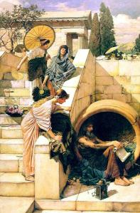 Diogenes by John William Waterhouse (1905).
